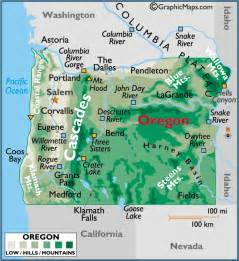 oregon large map oregon large color map