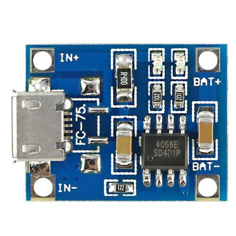 Tp4056 Li Ion Usb Charge tp4056 li ion battery charger module 1a micro usb connector