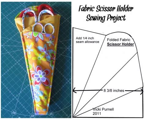 scissors holder pattern free fabric scissor holder sewing project simple sewing