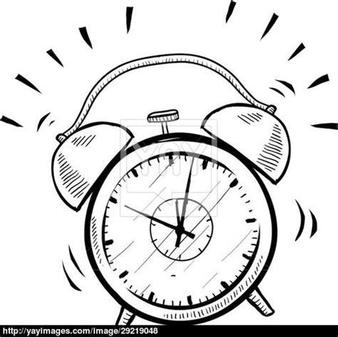 Alarm Clock Bedroom Retro Alarm Clock Vector Sketch Vector Yayimages Com