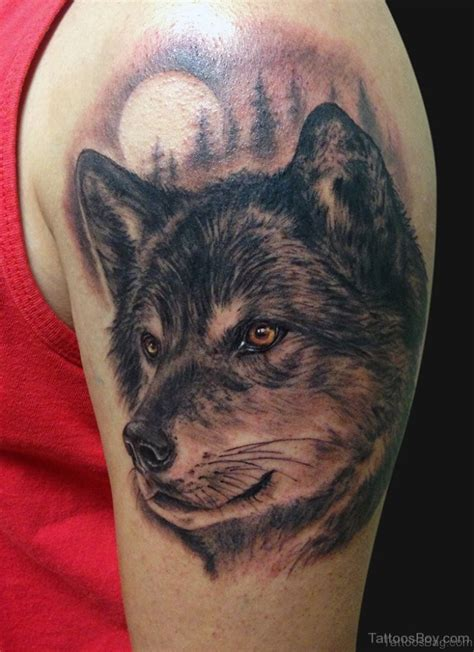 wolf head tattoo 51 wolf tattoos on shoulder