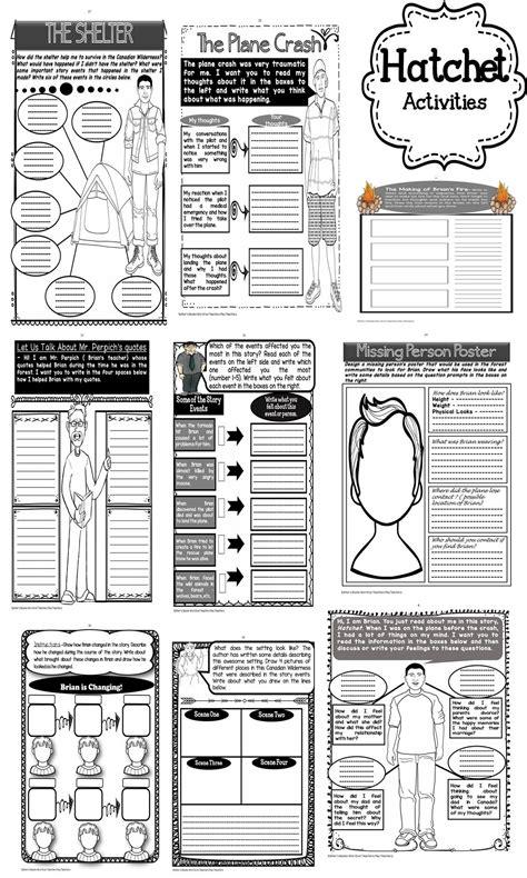 Hatchet - Novel Activities Unit | Novels, Activities and
