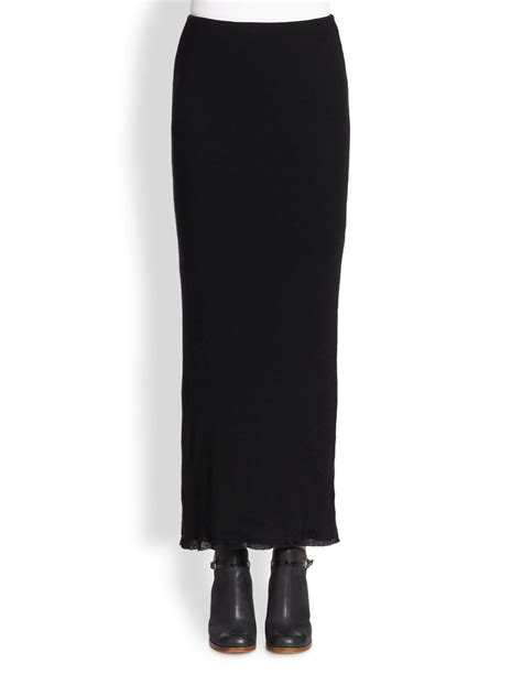 knit maxi skirt cottoncashmere knit maxi skirt in black lyst