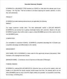executive summary template word 21 executive summary templates free sle exle
