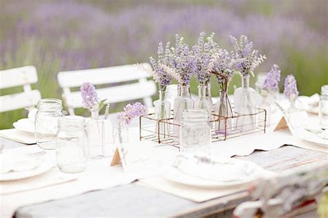Lavender Wedding Decorations by Dinner Table Setting Ideas