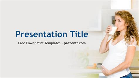 free pregnancy nutrition powerpoint template prezent