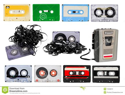 7 Audio Cassettes And 3 Video Cassettes by Audio Cassettes Stock Photos Image 11929873