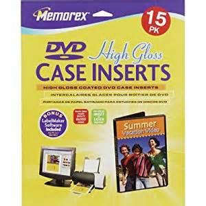 memorex dvd inserts template memorex 15pk gloss dvd inserts 32020714