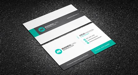 corporate business card templates free free subtle geometric corporate business card template