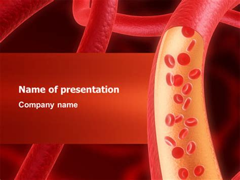 templates powerpoint blood red blood cells powerpoint template backgrounds 02953