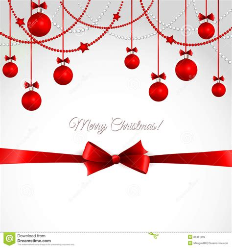 vector merry christmas greeting card stock vector image