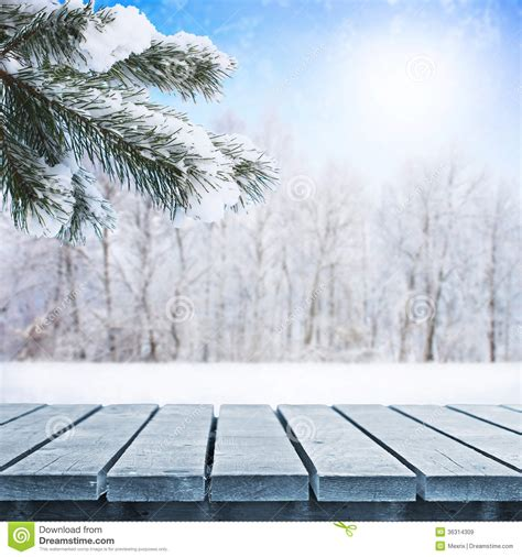 winter table winter table royalty free stock images image 36314309
