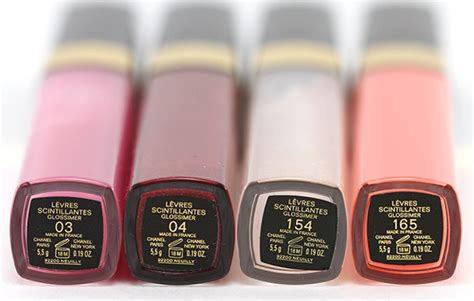 Chanel Glossimer Lip Gloss In Glaze by Chanel L 232 Vres Scintillantes Glossimer In 03 Glaze 04