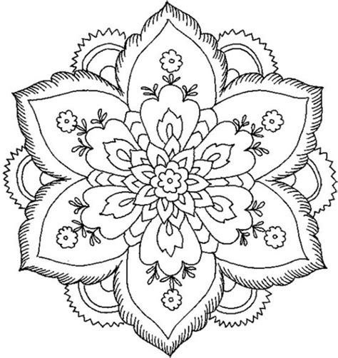 easy mandala coloring pages for adults mandala coloring simple printable mandala coloring pages