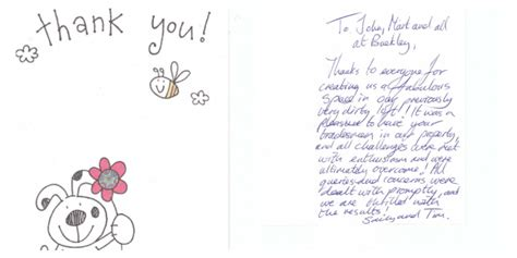 Thank You Letter Header Client Thank You Letter Buckley Loft Conversions