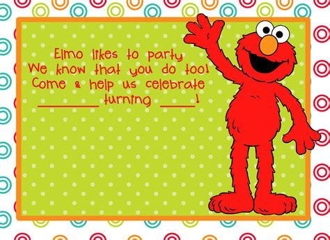 free printable elmo birthday invitations template elmo birthday party on pinterest elmo party elmo
