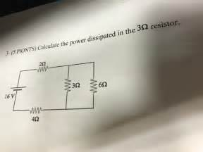 determine the power dissipated by the 40 ohm resistor calculate the power dissipated in the 3 ohm resistor chegg