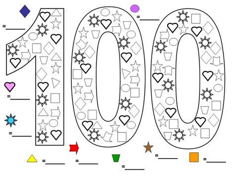 miss bindergarten 100th day of kindergarten worksheets