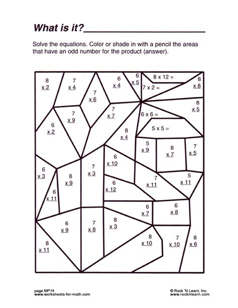 Printable Geometry Worksheets by Math Worksheet Mp14