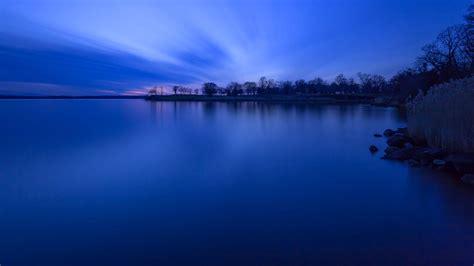 Landscape Nature Blue Sky Trees Lakes Sea Beauty Wallpaper Blue Sky Landscape