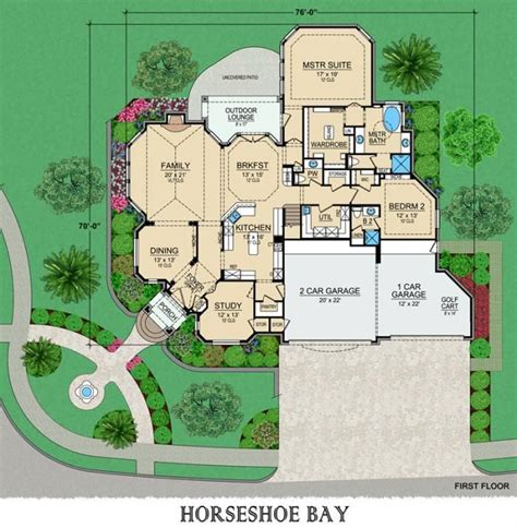 fancy house floor plans archival designs luxury house plan horseshoe bay first floor planner house