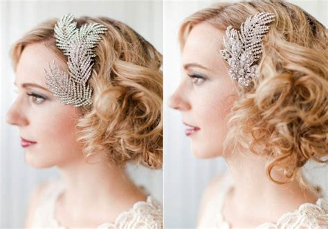 vintage wedding hairstyles ultra feminine wedding hair accessories by portobello onewed