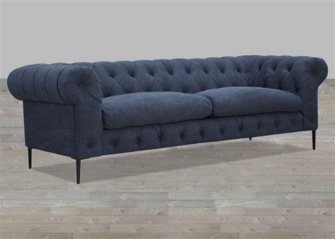 polyester sofa cotton polyester blend blue sofa