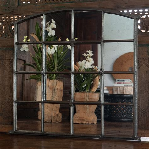 slow arch cast iron window frame mirror arched window