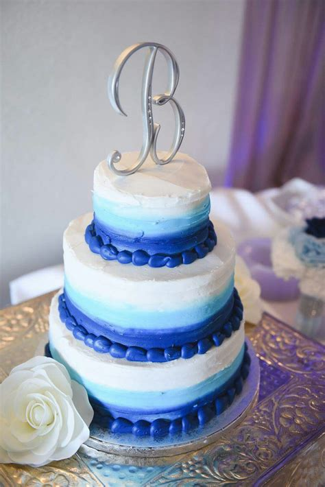 wedding cakes at sams club blue ombre 3 tier wedding cake from sam s club bakery
