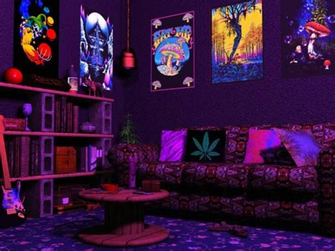 Cool Black Light Rooms by Hippie Blacklight Room Cool Stoner Bedrooms Cool Stoner
