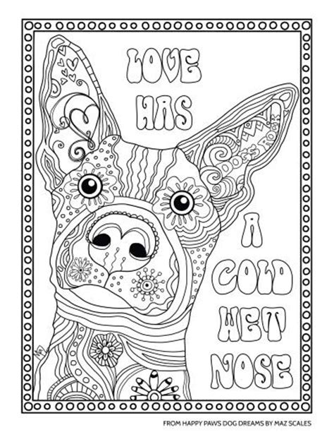 dog coloring page for adults love dog coloring activity therapy pinterest dog