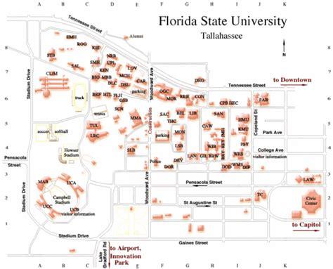 fsu cus map florida state map florida state mappery