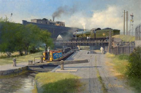 boat train english channel railway paintings by philip d hawkins fgra