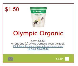 save $1.50 on olympic organic yogurt printable coupon