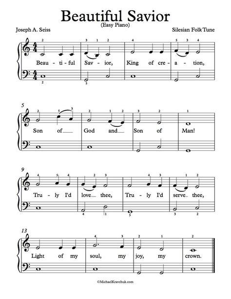 piano music on pinterest sheet music singers and lyrics free easy piano arrangement for beautiful savior free