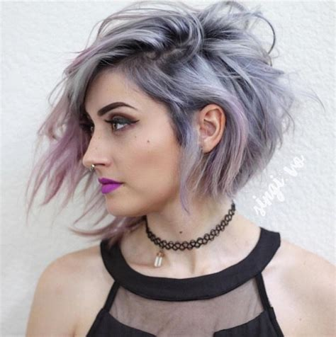 degrees of gray hair beautiful silver ombre hairstyles for short hair