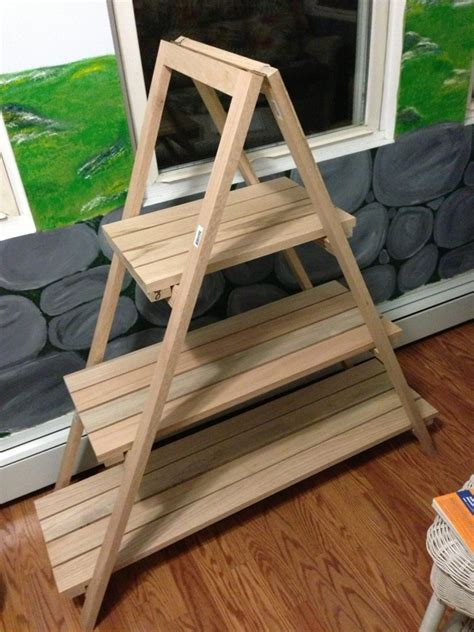 How To Make A Plant Holder - diy how to build an a frame plant stand wooden pdf