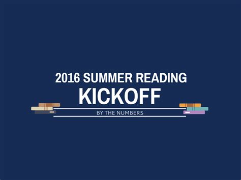 Kickoff Book Report by Summer Reading Kickoff By The Numbers Cbell County Library