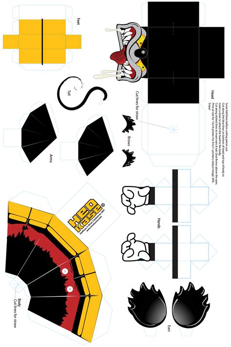 Mickey Mouse Papercraft - printable papercraft free hedkase papercraft