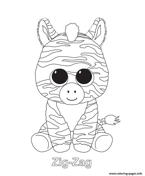 coloring pages for zigzag zig zag beanie boo coloring pages printable