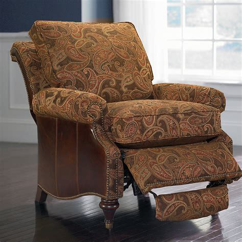 Oxford Recliner by Oxford Leather Accent Recliner By Bassett Bassett Chairs