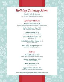holiday party catering menu letter christmas menus