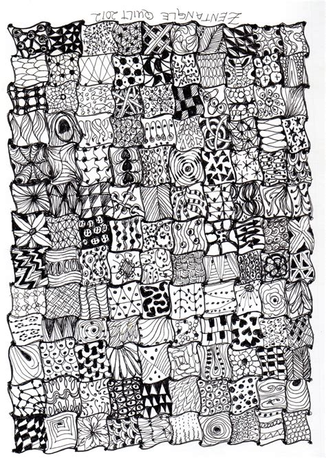 zentangle quilt pattern zentangle quilt zentangle art pinterest