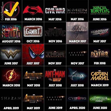 jadwal film marvel dan dc superhero films coming soon marvel cinematic universe