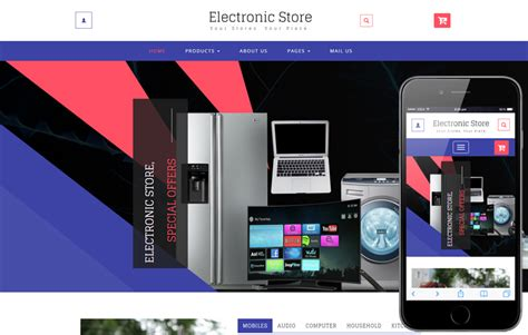 best china electronics products online shopping store clean and flat whity ecommerce responsive web template by
