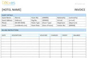 free hotel templates invoice templates dotxes