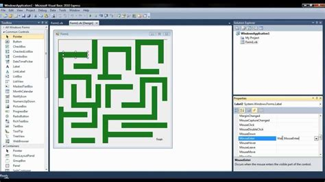 simple visual basic games how to make a maze game in visual basic youtube