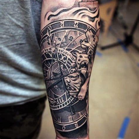 men half sleeve cool banner and nice navy anchor tattoo forearm tattoo sleeve designs creativefan