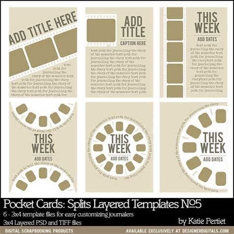 3x4 cards template pocket cards splits 3x4 layered templates no 05