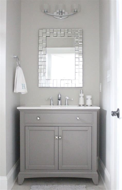 gray bathroom mirror 25 best ideas about grey bathroom vanity on pinterest